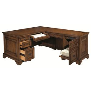 Highland Court Centennial Computer Desk & Return