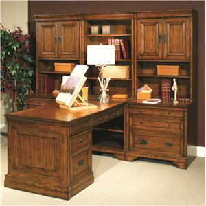Morris Home Furnishings Centennial Modular Office Wall