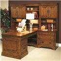 Aspenhome Centennial Modular Office Open Hutch  - Shown as Component of Modular Office Wall