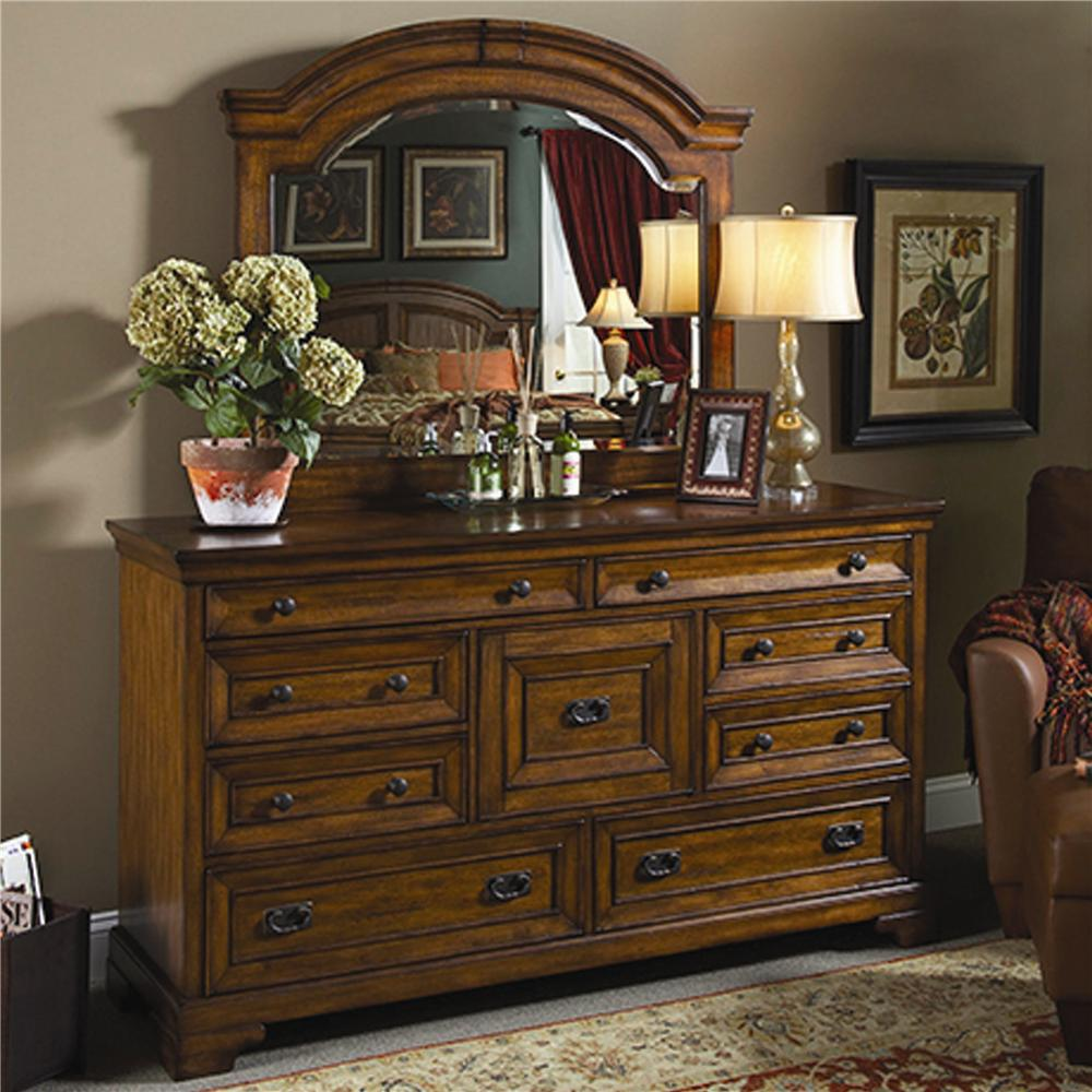Aspenhome Centennial Master Dresser and Mirror Combination - Item Number: I49-462+453