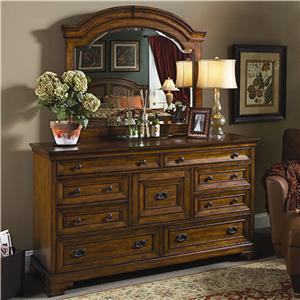 Highland Court Centennial Master Dresser and Mirror Combination