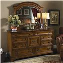 Morris Home Furnishings Centennial Master Dresser and Mirror Combination - Item Number: I49-462+453