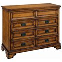 Aspenhome Centennial Entertainment Chest with Drop Front Component Storage Drawer and AC Outlets - I49-485 - Shown with Wood Panels
