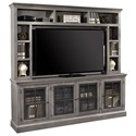 "Aspenhome Churchill 84"" TV Console and Hutch - Item Number: DR1260+1260H-GRY"