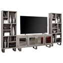 "Aspenhome Cityscape Wall Unit w/ 84"" Console - Item Number: WKP1260-TIN+2XWKP1101-TIN"