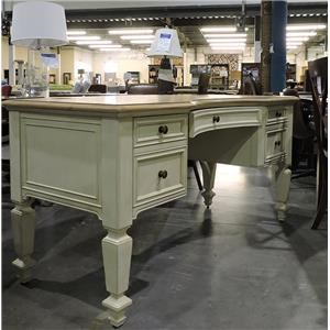 Aspenhome     Double Ped Curved Desk