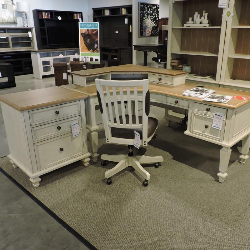 Pedestal L Desk