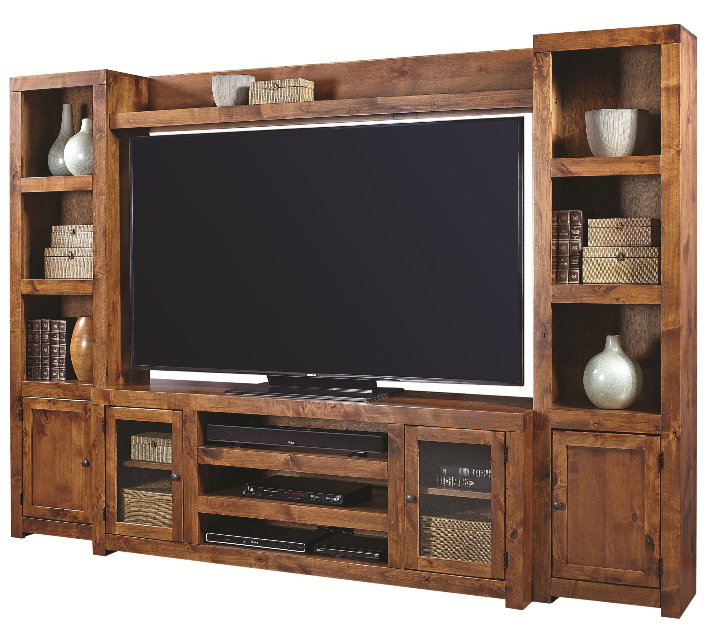 Aspenhome Contemporary Alder Entertainment Wall - Item Number: DL1073+173+118L+118R-FRT