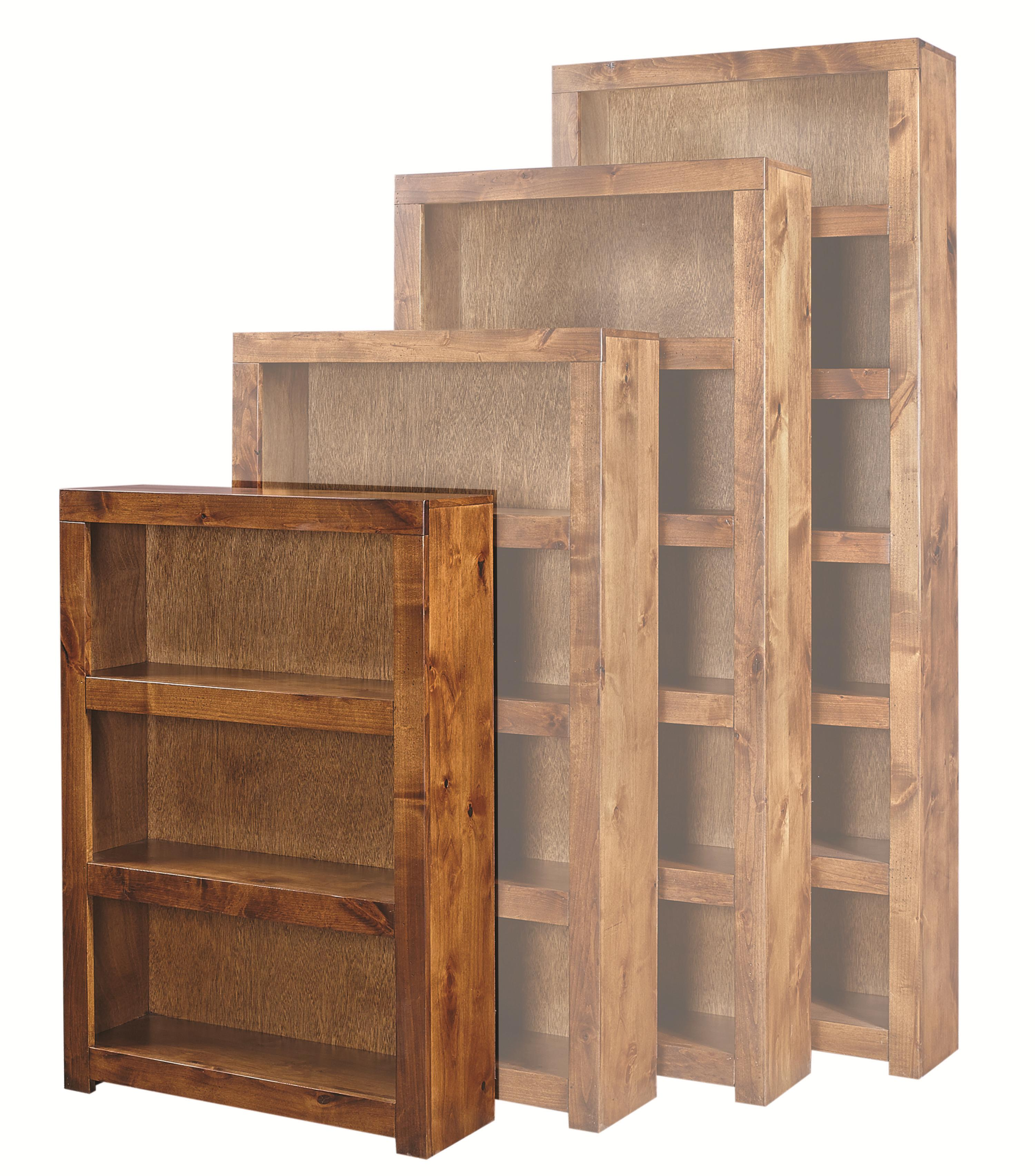 Aspenhome Contemporary Alder 48 Inch Bookcase - Item Number: DL3448-FRT