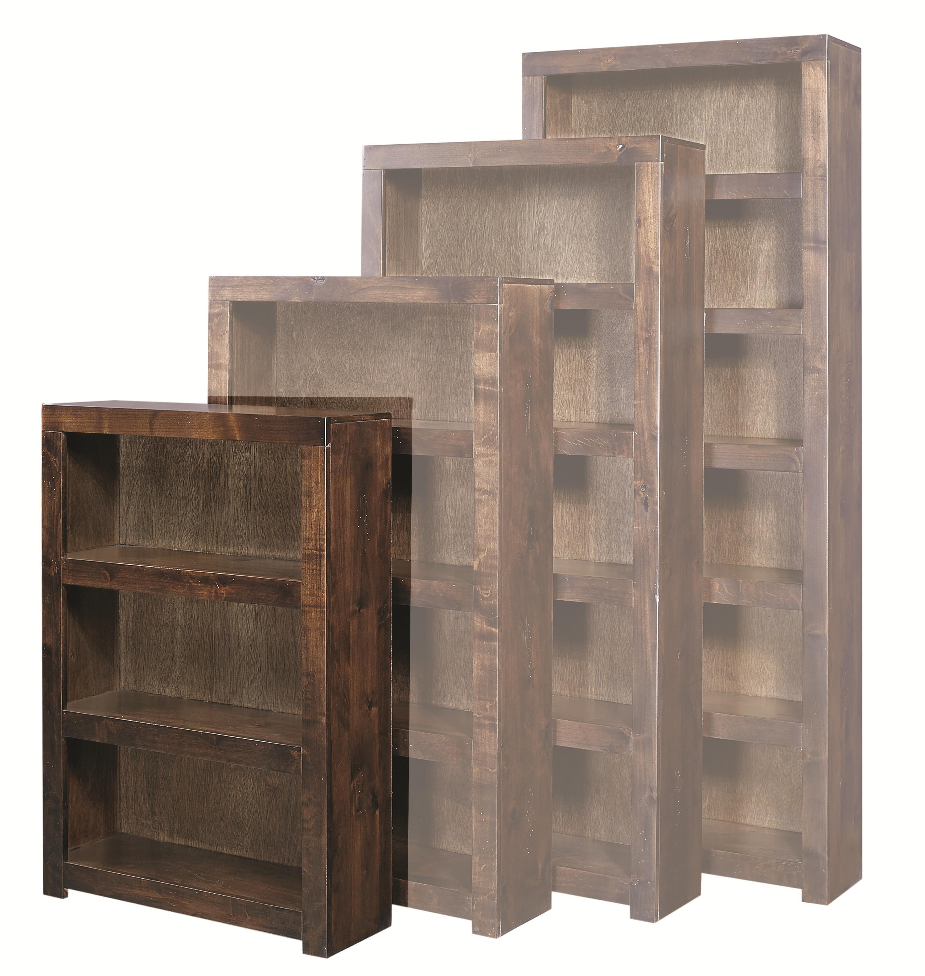 Aspenhome Contemporary Alder 48 Inch Bookcase - Item Number: DL3448-TOB