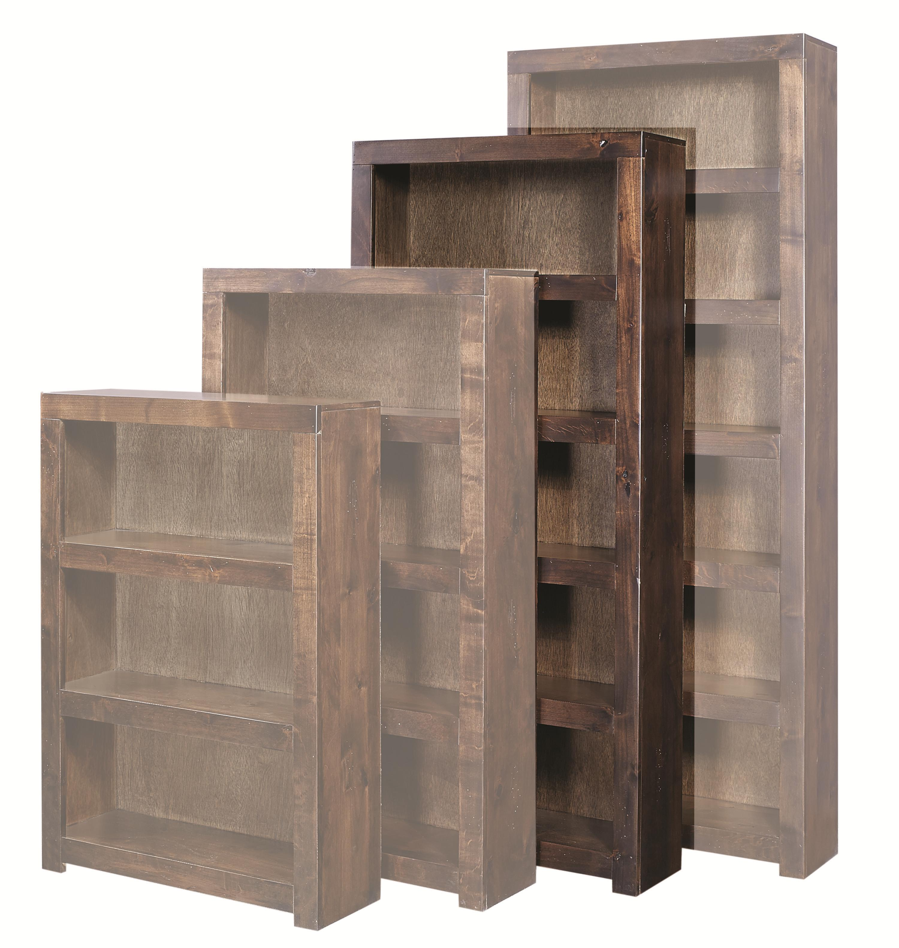 Aspenhome Contemporary Alder 72 Inch Bookcase - Item Number: DL3472-TOB