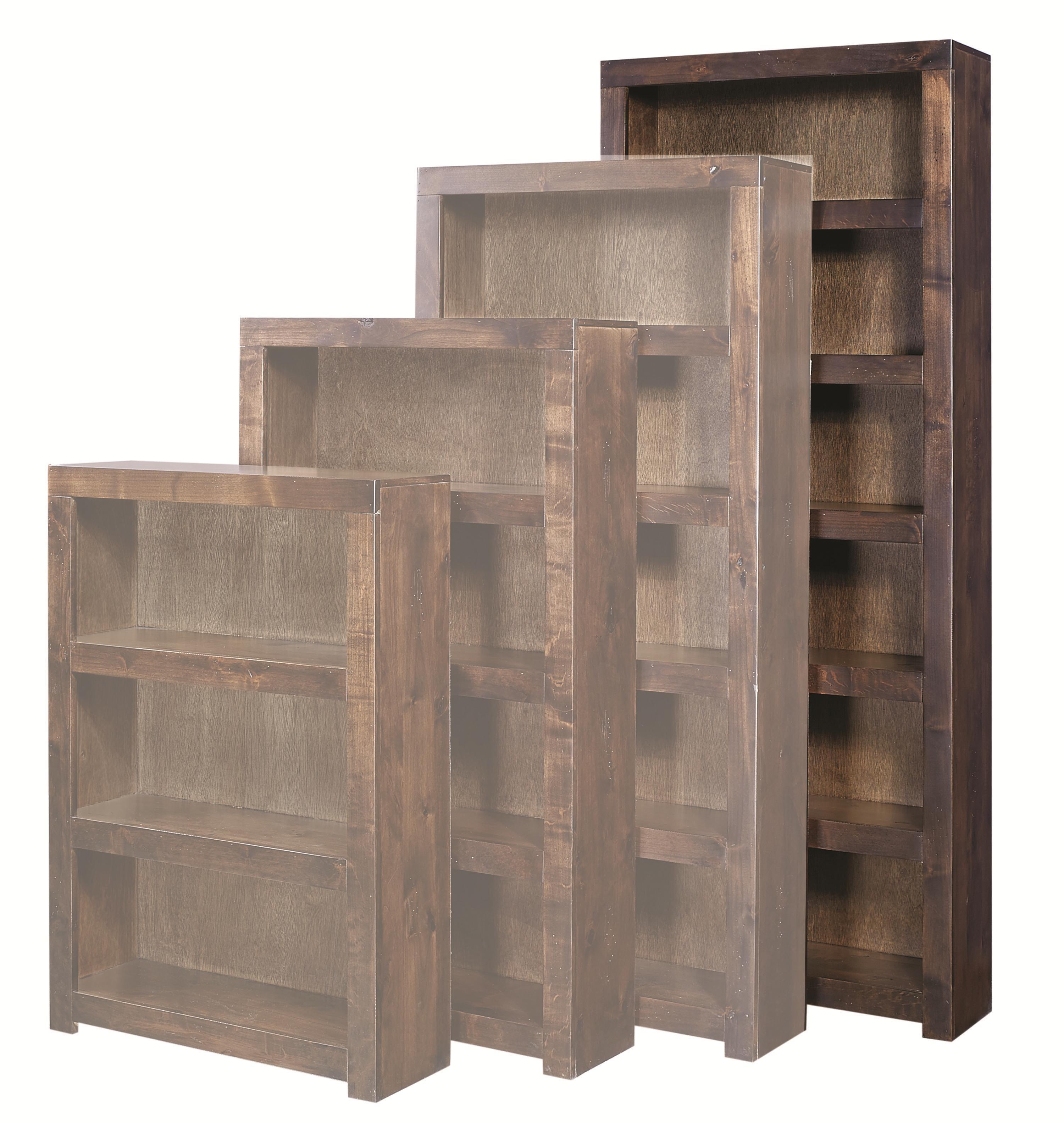 Aspenhome Contemporary Alder 84 Inch Bookcase - Item Number: DL3484-TOB