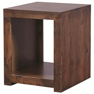Morris Home Contemporary Alder End Table