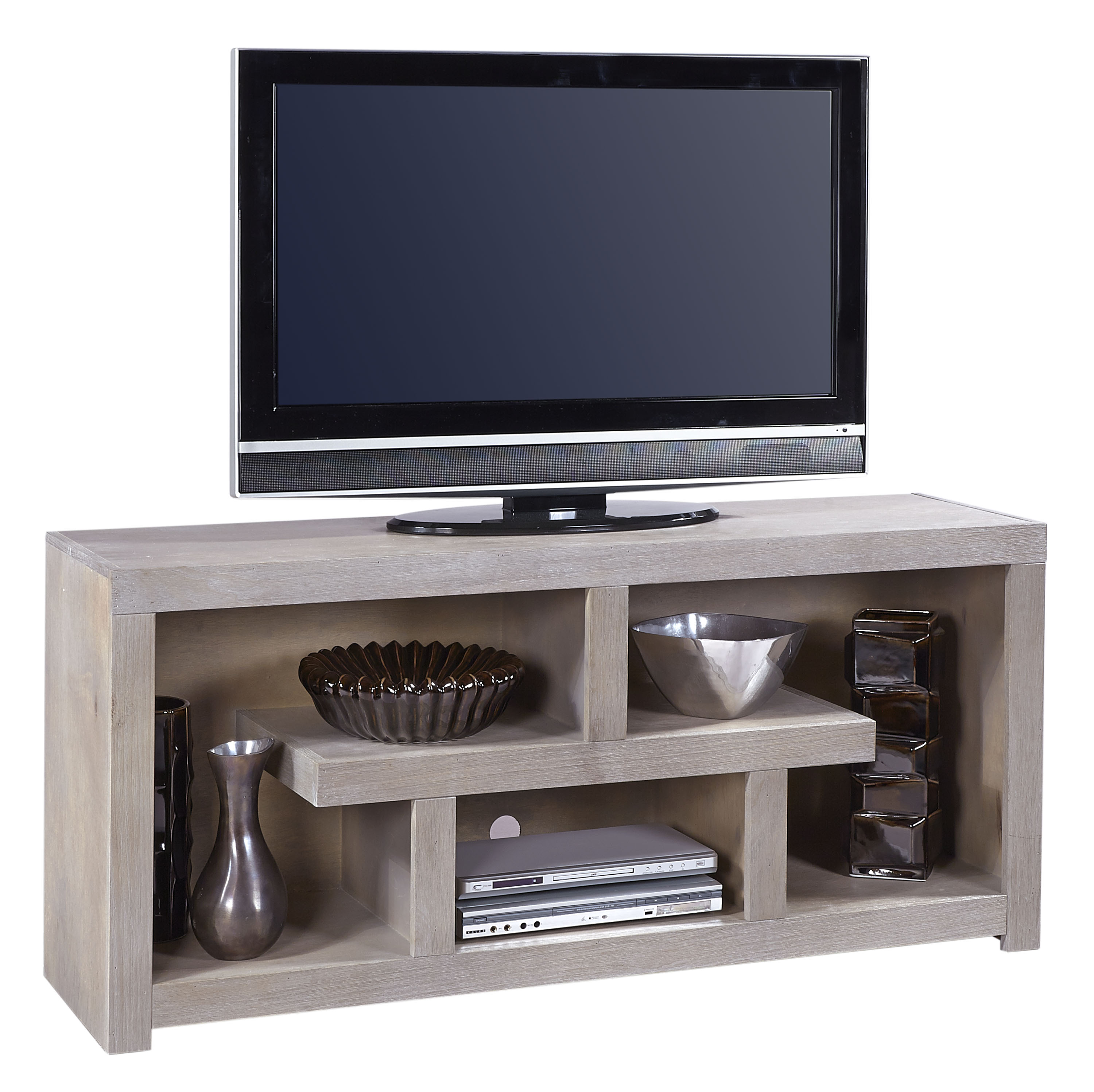 Aspenhome Contemporary Driftwood 60 Inch Console - Item Number: WML1029-DRF
