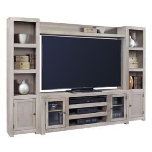 Aspenhome Contemporary Driftwood Entertainment Wall