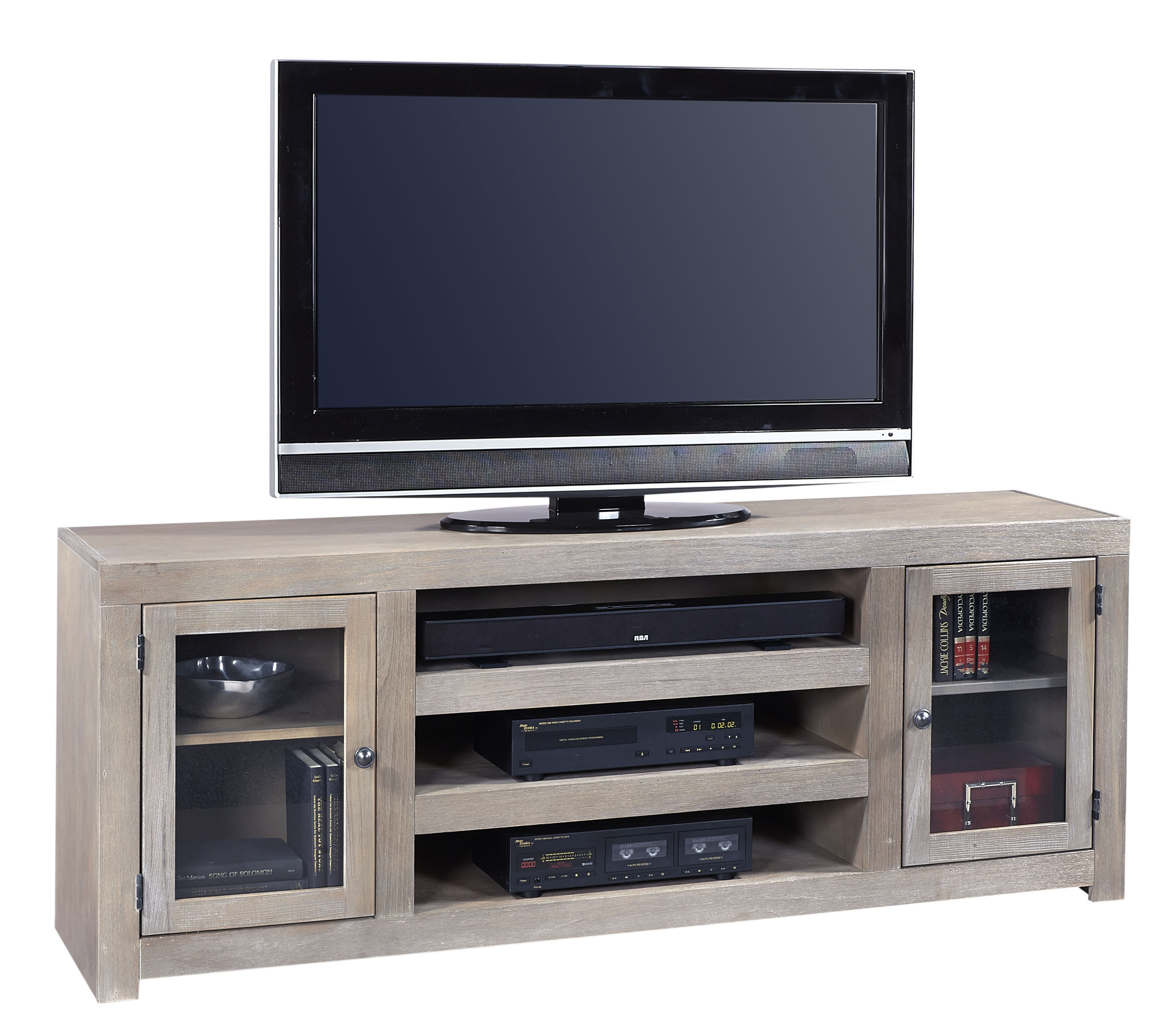 Aspenhome Contemporary Driftwood 72 Inch Console - Item Number: WML1073-DRF
