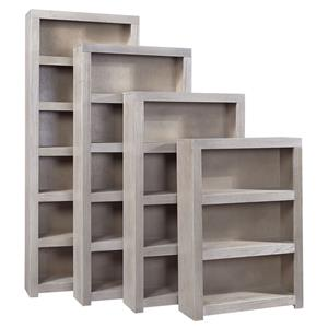 Morris Home Driftwood Driftwood 72 Inch Bookcase with 4 Shelves