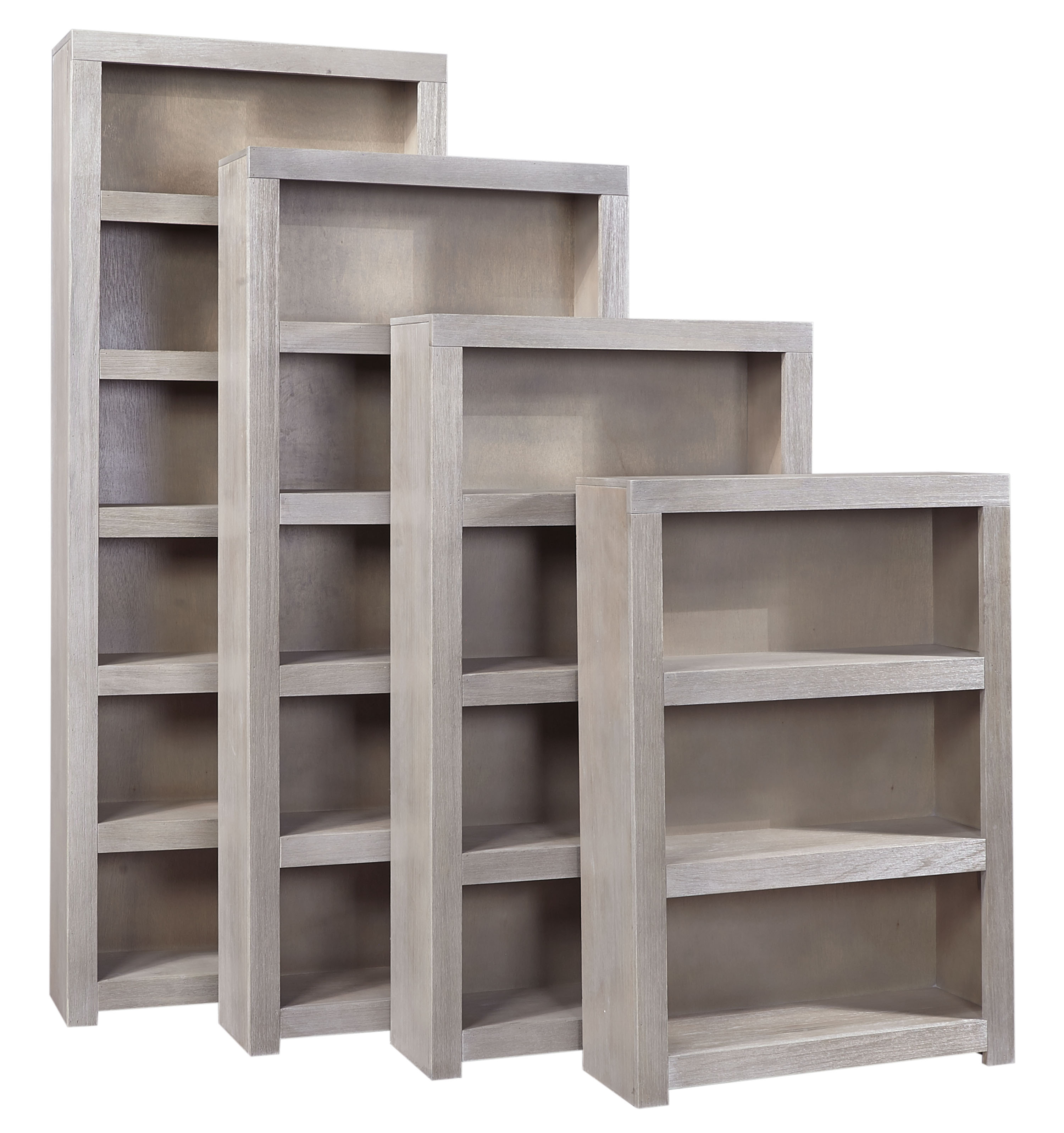 "Aspenhome Contemporary Driftwood 84"" Bookcase - Item Number: WML3484-DRF"