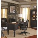 Aspenhome Ravenwood Curved-Top Half Pedestal Desk