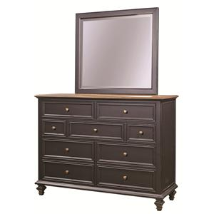 Aspenhome Ravenwood Chesser and Mirror Comb