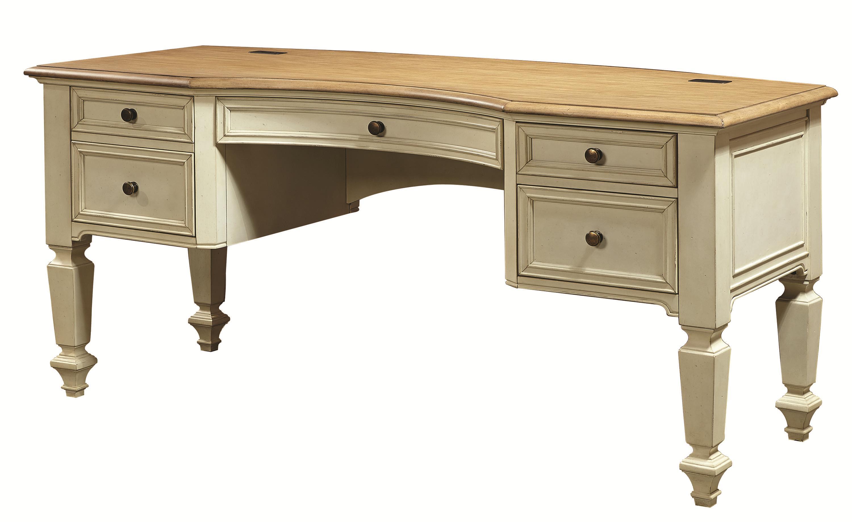 Aspenhome Cottonwood I67 371 Curved Top Half Pedestal Desk