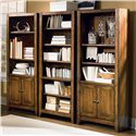 Aspenhome Cross Country Bookcase Wall with Four Doors & 13 Shelves