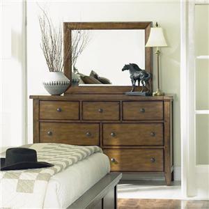 Morris Home Furnishings Cross Country Dresser and Mirror