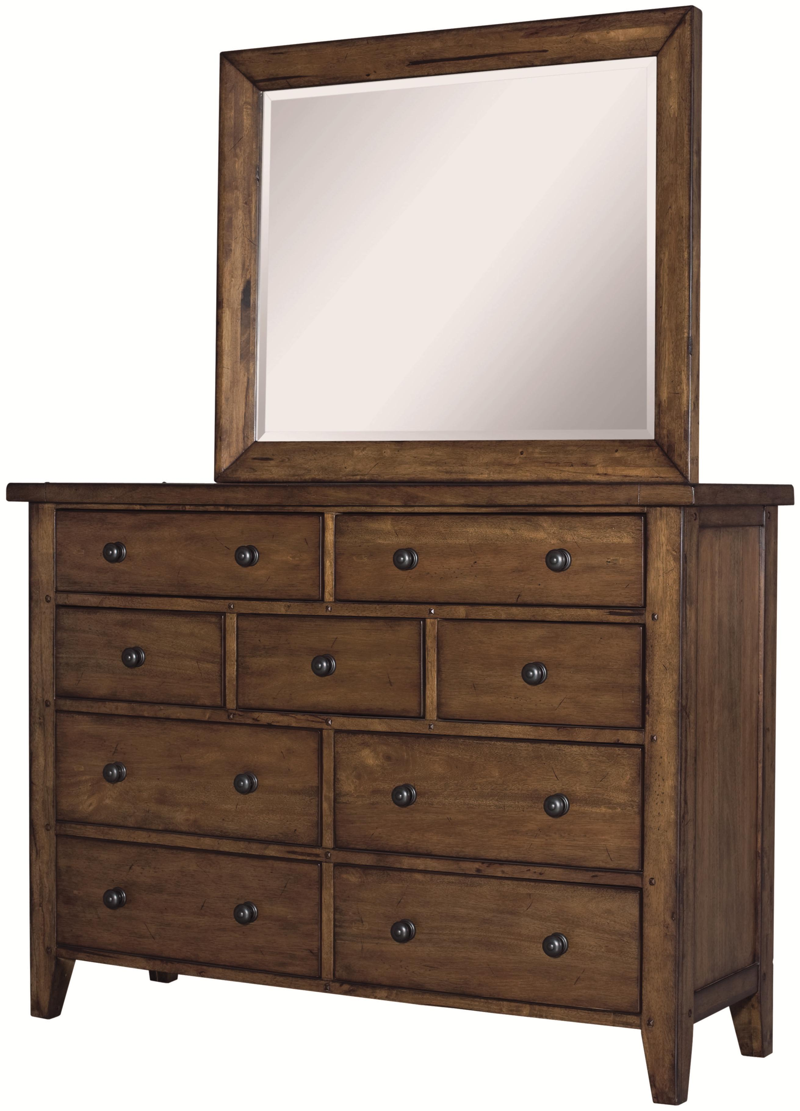 Aspenhome Cross Country Chesser & Mirror - Item Number: IMR-455+463