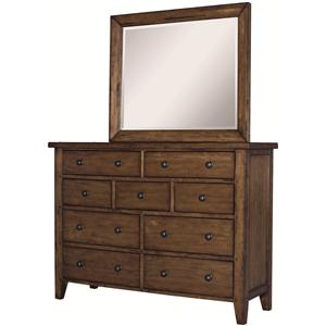 Morris Home Furnishings Cross Country Chesser & Mirror