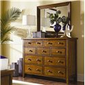 Aspenhome Cross Country Nine Drawer Chesser - Shown with Chesser Mirror