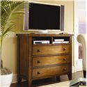 Aspenhome Cross Country Three Drawer Entertainment Chest - IMR-485 - Shown with Television