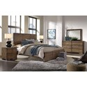 Morris Home Furnishings Dimensions King Panel Bed with Reclaimed Metal Accents