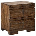 Aspenhome Dimensions 2 Drawer Nightstand - Item Number: I52-450-RUM