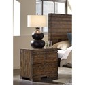 Aspenhome Dimensions 2 Drawer Nightstand with Reclaimed Metal Accents