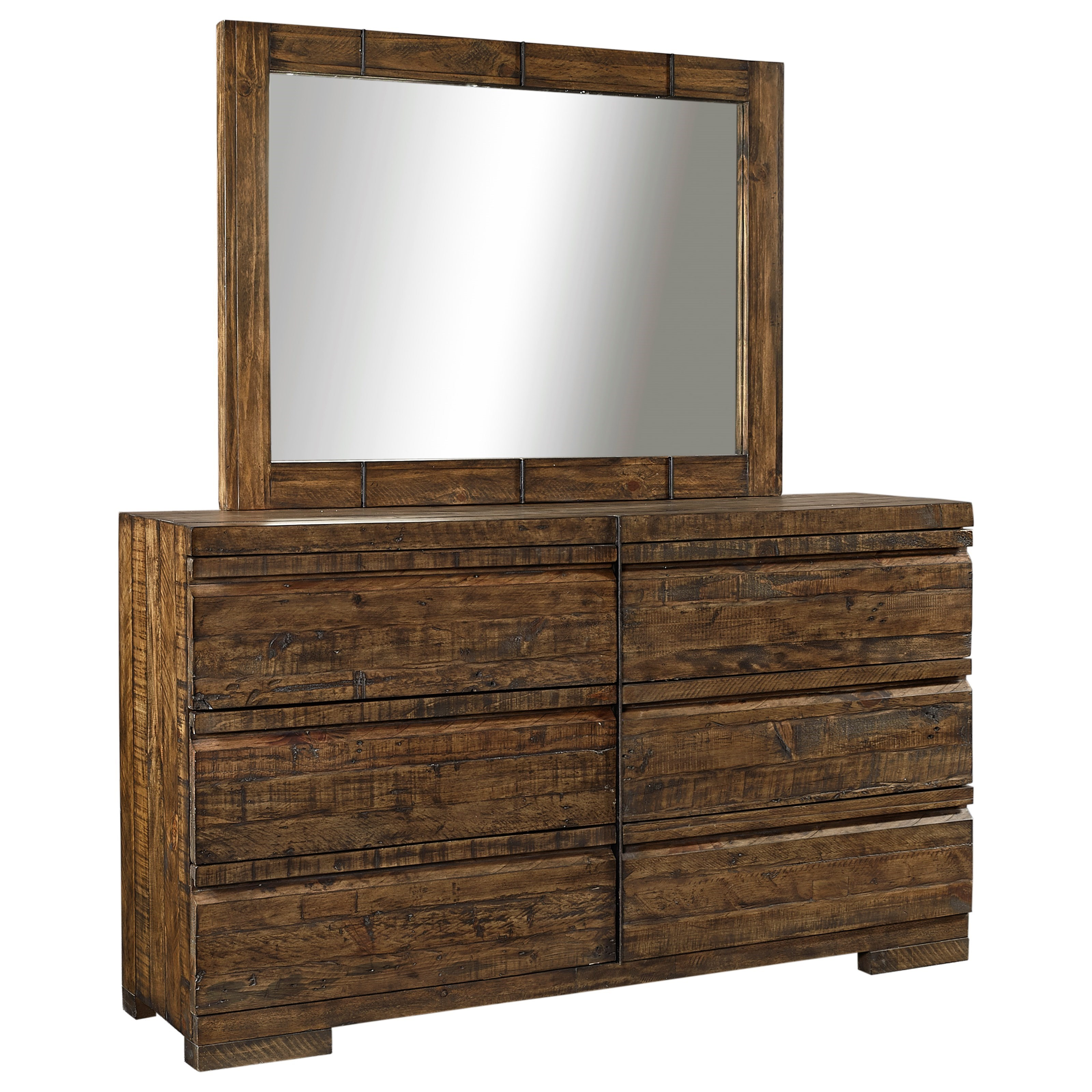 Aspenhome Dimensions Dresser and Mirror Set - Item Number: I52-453+462