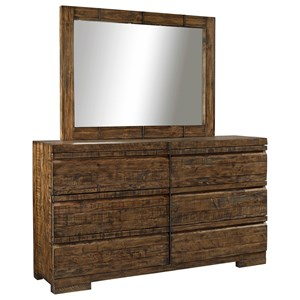 Morris Home Furnishings Dimensions Dresser and Mirror Set