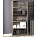 "Aspenhome District 74"" Open Bookcase  - Item Number: WKD3472-TIN"