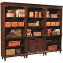 Aspenhome Villager Open Bookcase with 1 Fixed Shelf and 3 Adjustable Shelves - Shown with Door Bookcase