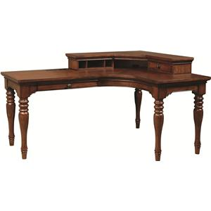 Highland Court Ironton Desk and Hutch