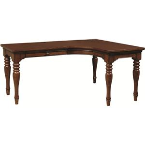 Morris Home Furnishings Ironton Curve L Desk