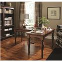 Morris Home Furnishings Ironton Curve L Desk with 1 Drawer and 4 AC Outlets