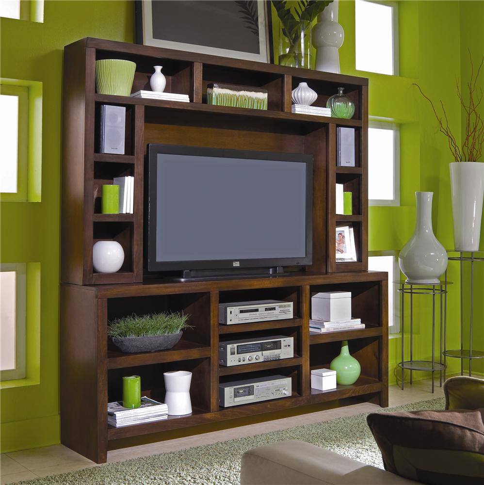 Aspenhome Essentials Lifestyle 74 Inch Console & Hutch - Item Number: CL1027-CHY+CL1027H-CHY