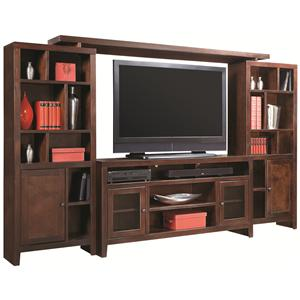 Morris Home Furnishings Essentials Lifestyle 120 Inch Entertainment Wall Unit