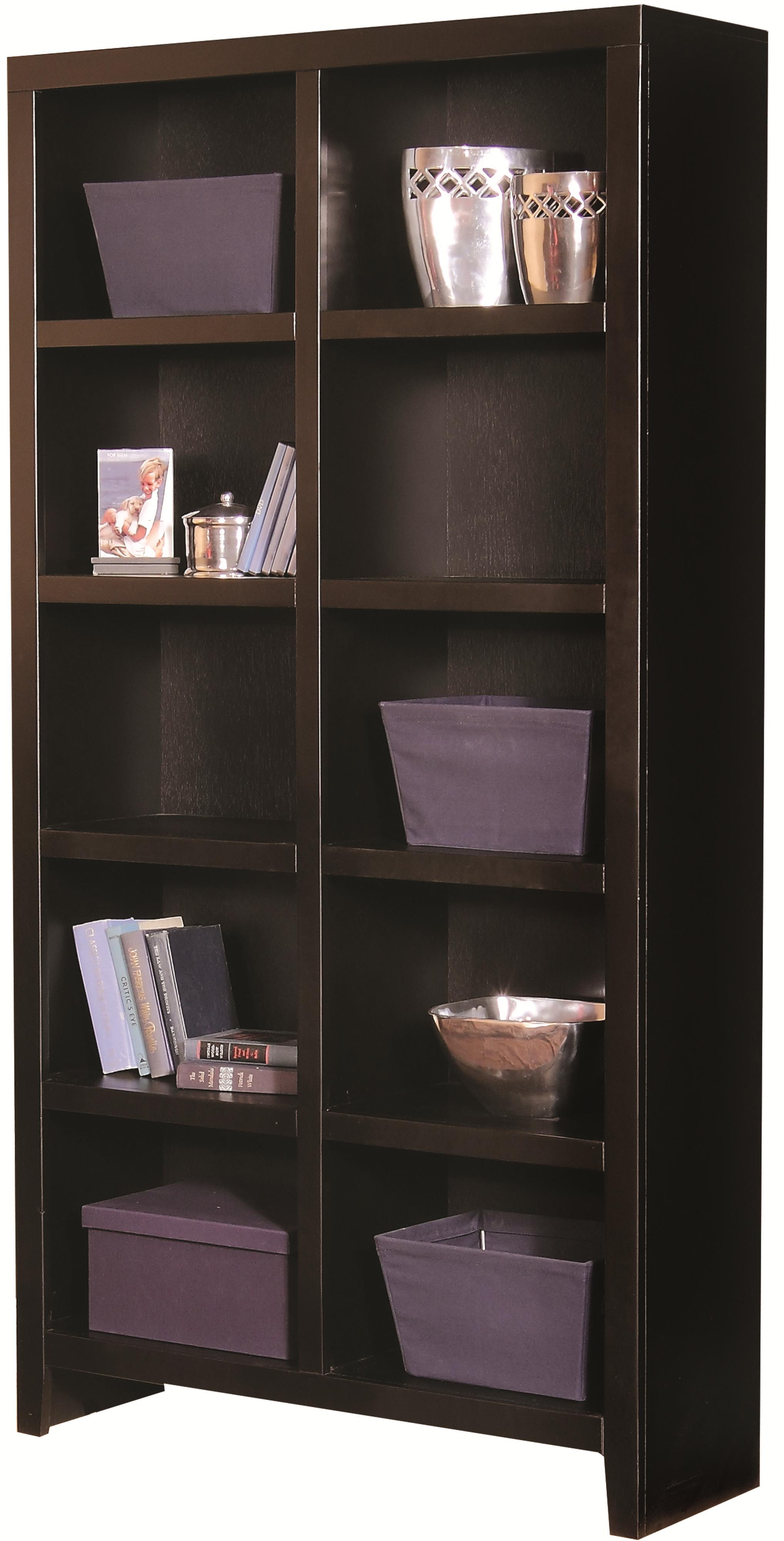 Aspenhome Essentials Lifestyle 77 Inch Cube Bookcase - Item Number: CL4077-BLK
