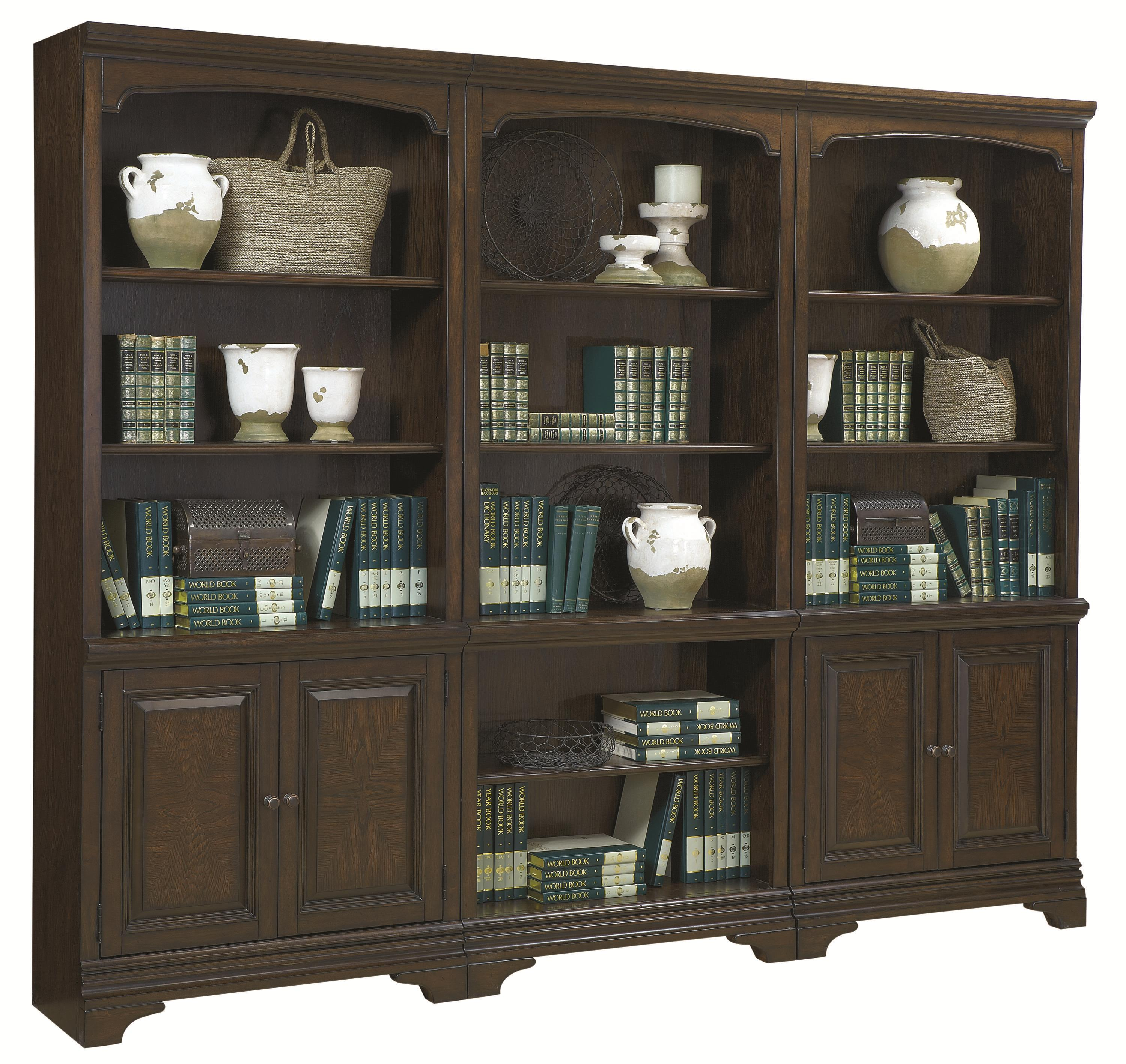 Aspenhome Essex 3 Piece Bookcase - Item Number: I24-2X332+333