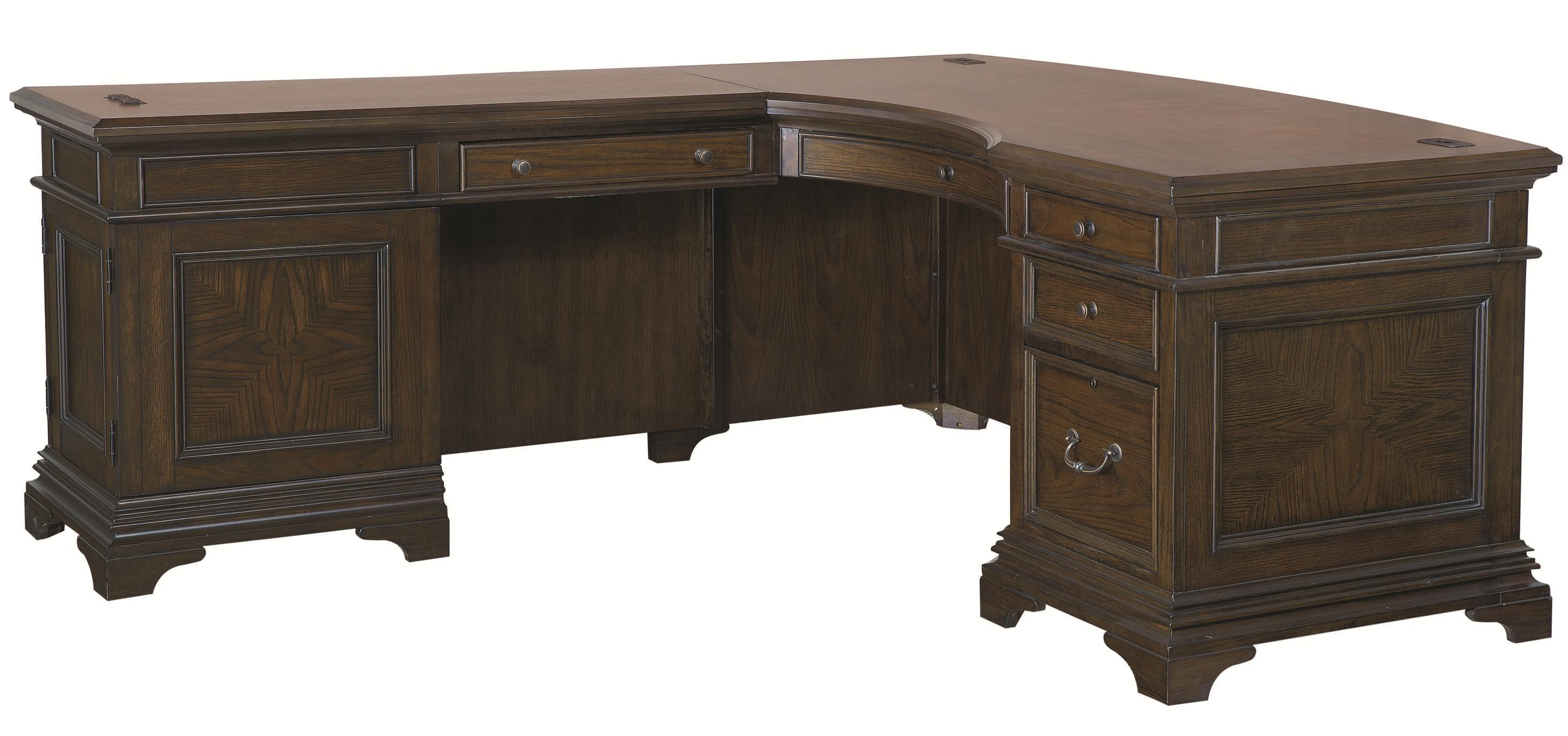 Highland Court Addams Addams Desk and Reversible Return - Item Number: I24-307+8