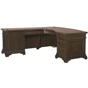 Morris Home Furnishings Essex Desk and Reversible Return