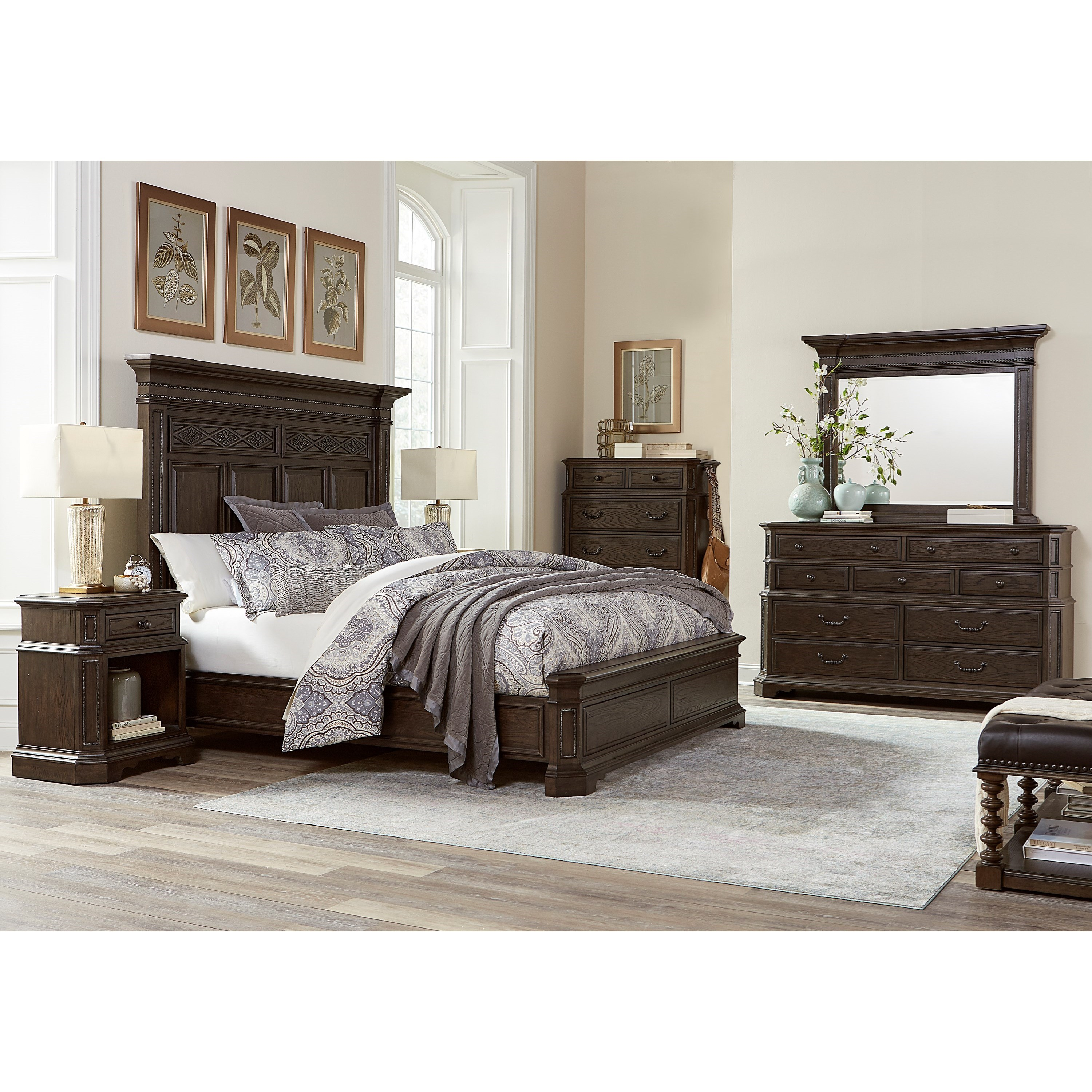Foxhill King Bedroom Group by Aspenhome at Walker's Furniture