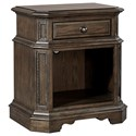 Highland Court Foxhill One Drawer Nightstand - Item Number: I201-451