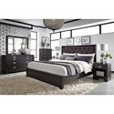 Aspenhome Front Street Queen Bedroom Group - Item Number: IFS Q Bedroom Group 1 BLC